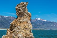 En av många tufa'sen på mono sjös södra kust Arkivbilder