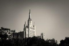 En av Moskva sju systerskyskrapor Royaltyfria Bilder
