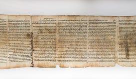 En av snirklar för dött hav, visat i relikskrin av boken israel fotografering för bildbyråer