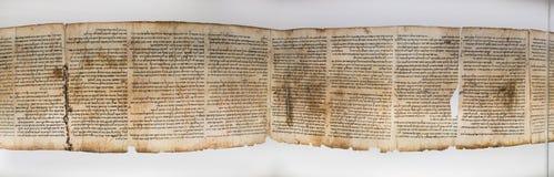 En av snirklar för dött hav, visat i relikskrin av boken israel arkivbild