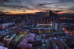 En av taket av Moskva Arkivfoto
