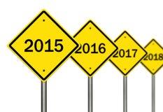 2015 en avant Image libre de droits