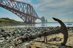 En avant le pont en longeron Image libre de droits