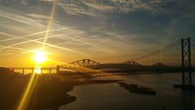 En avant pont en route Image libre de droits