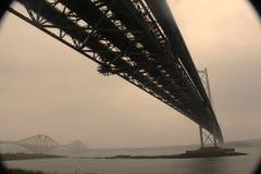 En avant ponts en route et en rail Image stock