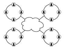 Knyta kontakt vektor illustrationer