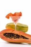 En avlång ätlig frukt - papayaen Royaltyfri Bild