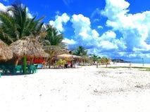 En avskild strand i Cozumel Mexico royaltyfria foton