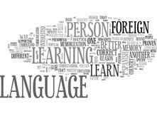 En bättre anledning att lära ordmolnet för utländskt språk stock illustrationer