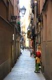 Barcelona bakgata Fotografering för Bildbyråer