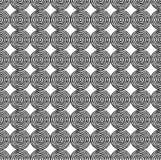 En bakgrund av många cirklar Ojämna konturer som dras av handen Royaltyfria Bilder