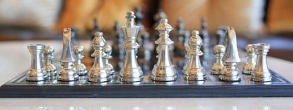 En bakgrund för schacklek, Royaltyfri Foto
