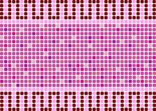 En bakgrund i form av en mosaik i rosa och röda färger Arkivfoto