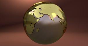 En bakgrund med jordplaneten som göras i guld, som visar de Europa och Asien kontinenterna royaltyfri illustrationer