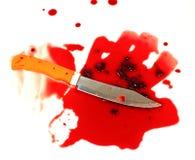 En baktala suddig med blod. Royaltyfri Foto