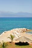 En bana in i havet Fotografering för Bildbyråer