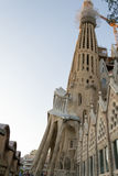 En Barcelona La Sagrada Familia ist eins des ikonenhaftsten buildi Lizenzfreie Stockfotos