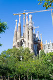 En Barcelona La Sagrada Familia ist eins des ikonenhaftsten buildi Lizenzfreie Stockbilder