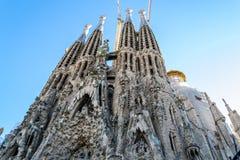En Barcelona La Sagrada Familia ist eins des ikonenhaftsten buildi Stockfotografie
