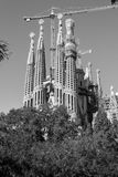 En Barcelona La Sagrada Familia ist eins des ikonenhaftsten buildi Stockfoto