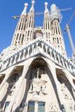 En Barcelone de Sagrada Familia de La est une du buildi le plus iconique Image libre de droits