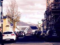 En bas de la rue Photo libre de droits