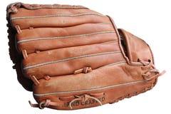 En baseballhandske med vit bakgrund royaltyfria bilder