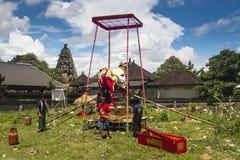 En begravning i Bali, Indonesien arkivfoto