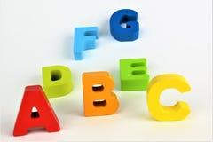 En begreppsbild av abc-bokstäver, pre skola, leksak, alfabet Royaltyfri Foto
