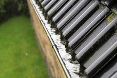 En begreppsbild av en avrinning med regndroppar - regn Royaltyfri Foto