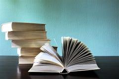 En begreppsbild av böcker - utbildning Fotografering för Bildbyråer