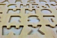 En begreppsbild av bokstäver, pre skola, utbildning Arkivfoton