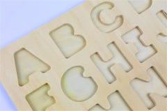 En begreppsbild av bokstäver, pre skola, utbildning Royaltyfri Foto