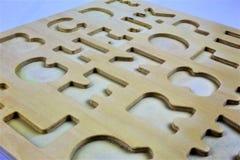En begreppsbild av bokstäver, pre skola, utbildning Royaltyfria Bilder