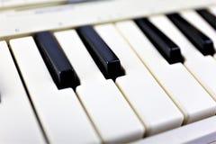 En begreppsbild av ett pianotangentbord Royaltyfri Foto