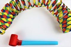 En begreppsbild av en karnevalkonfetti festar Royaltyfri Bild