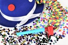 En begreppsbild av en karnevalkonfetti festar Royaltyfri Fotografi