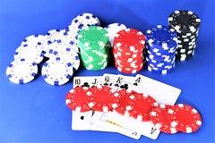 En begreppsbild av en kasinopoker - med kopieringsutrymme Royaltyfri Bild