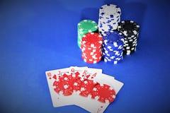 En begreppsbild av en kasinopoker - med kopieringsutrymme Arkivbild
