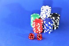 En begreppsbild av en kasinopoker - med kopieringsutrymme Fotografering för Bildbyråer