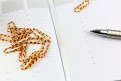 En begreppsbild av schema med kopieringsutrymme Royaltyfri Fotografi