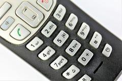 En begreppsbild av en telefon - telefon Royaltyfri Bild