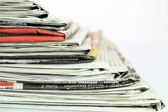 En begreppsbild av en tidning, nyheterna, tidskrift, information Royaltyfria Foton