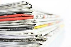 En begreppsbild av en tidning, nyheterna, tidskrift, information Royaltyfria Bilder