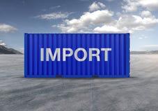 En behållare, för export och import i isolerad bakgrund stock illustrationer