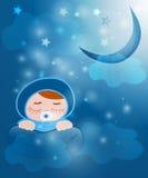En behandla som ett barn sovar under sunen Royaltyfria Foton