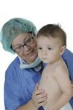En behandla som ett barndoktorsvisit. isolerat på white Arkivfoton