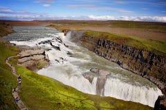 Gullfoss vattenfall, Island Royaltyfri Bild