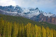 En bergöverkant i den Banff nationalparken, Kanada royaltyfri fotografi