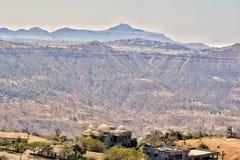 En bergsikt Arkivfoto